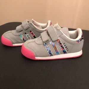 Little girl's size 7.5 Adidas shoes